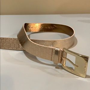 MICHAEL KORS Rose Gold Synthetic Leather Belt Sz S